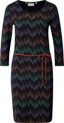 mazine Šaty \'Lotte\' černá / zelená / fialkově modrá / béžová