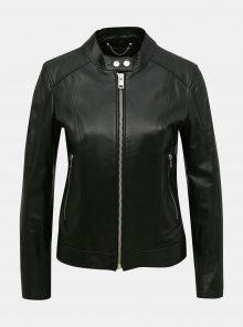 Černá dámská kožená bunda Diesel - S