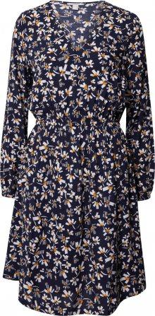 EDC BY ESPRIT Šaty námořnická modř / bílá / oranžová