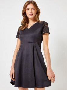 Černé šaty s krajkou Dorothy Perkins - L