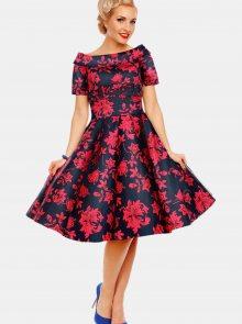 Růžovo-modré květované šaty Dolly & Dotty - S