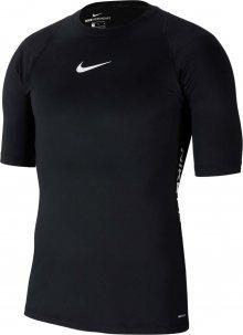 NIKE Funkční tričko \'AEROADAPT\' bílá / černá