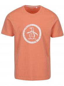 Meruňkové tričko s potiskem Original Penguin