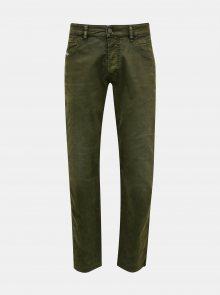 Tmavě zelené pánské slim fit džíny Diesel - XS