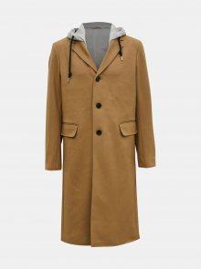 Béžový pánský vlněný kabát Diesel - XS