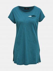 Modré dámské dlouhé tričko s průstřihy Diesel - XS
