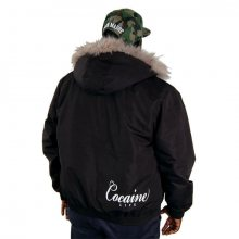 Zimní bunda Cocaine Life Basic Logo Winter Jacket Black - M
