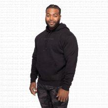 Better Bodies Mikina Logo Hoodie Black XXL