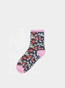 Růžovo-modré květované ponožky VANS - 37-41