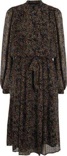 Selected Femme (Tall) Košilové šaty \'Misanti\' černá / oranžová / bílá