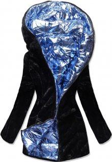 MODOVO Zimná bunda černo-modrá