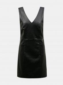 Černé koženkové šaty Dorothy Perkins - XS