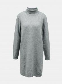 Světle zelené svetrové šaty s rolákem Jacqueline de Yong - XS