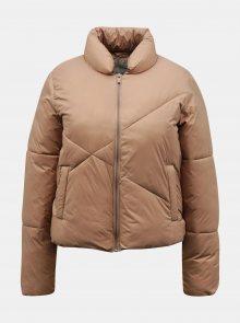 Béžová zimní prošívaná bunda Jacqueline de Yong Timber - XS