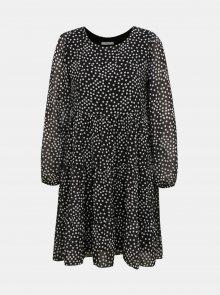 Černé volné puntíkované šaty Haily´s - XS