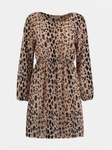 Béžové šaty s levhartím vzorem Haily´s - S