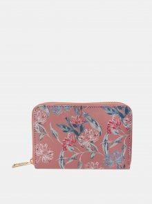 Růžová dámská květovaná peněženka Clayre & Eef