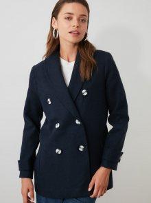 Tmavě modrý krátký kabát Trendyol - XS