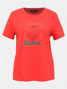 Červené tričko s potiskem VERO MODA Xmas - XS