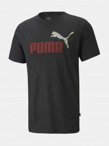 Tmavě šedé pánské tričko s potiskem Puma - S