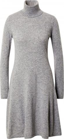 UNITED COLORS OF BENETTON Úpletové šaty šedá