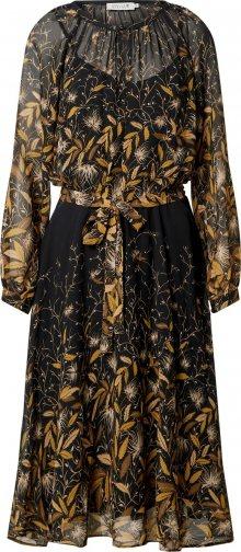 Molly BRACKEN Šaty černá / béžová / zlatě žlutá