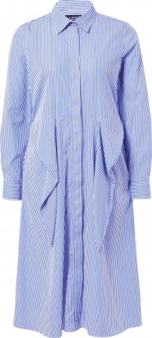 Lauren Ralph Lauren Šaty bílá / modrá