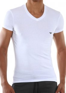 Pánské tričko Emporio Armani 110810 CC729 bílá S Bílá