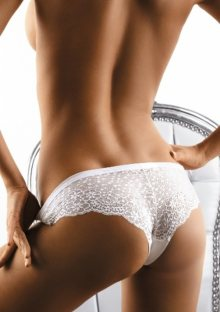 Kalhotky brazilky Babell 056 S Bílá