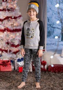 Dětské pyžamo Cotonella DB282 3/4 Šedá