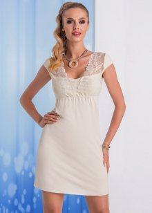 Elegantní noční košilka Donna Taylor L Krémová