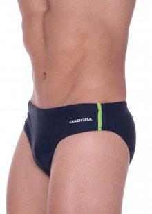Pánské slipové plavky Diadora 71506 zel. proužek XL Tm. modrá