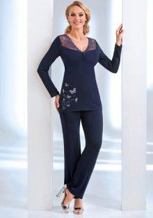 Dámské pyžamo Donna Dorothy L Tm. modrá