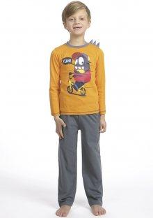 Dětské pyžamo CTM BIKE.PY 3 Oranžová