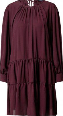 SELECTED FEMME Košilové šaty vínově červená