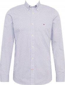 TOMMY HILFIGER Košile bílý melír / námořnická modř