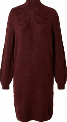 ONLY Úpletové šaty \'Pil\' vínově červená