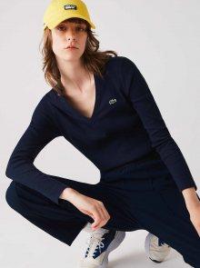 Tmavě modré dámské tričko Lacoste