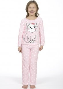 Dětské pyžamo CTM PUG.PYC 3 Světle růžová