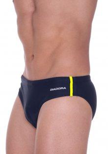 Pánské slipové plavky Diadora 71506 žl. proužek XL Tm. modrá