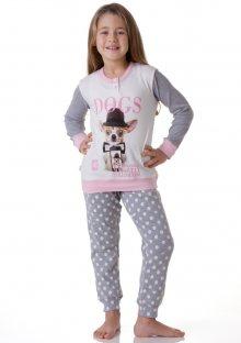 Dívčí pyžamo Cotonella DB244 9/10 Krémová