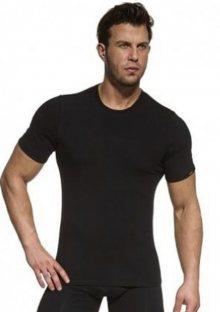 Pánské tričko Cornette 532 černá XL Černá