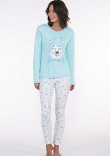 Dámské pyžamo CTM ARTIC.PLK L Světle modrá