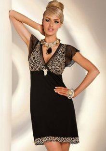 Elegantní dámská noční košilka Donna Valeria S Černá