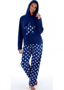 Dámské pyžamo Fordville LN000660 L/XL Tm. modrá