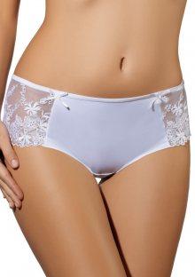 Dámské kalhotky - šortky Ewana 075 - bílá, černá S Bílá