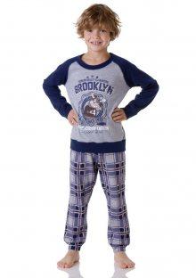 Chlapecké pyžamo Cotonella DB255 7/8 Šedá