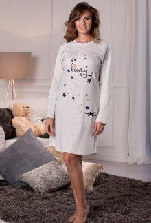 Dámská noční košile Cotonella DD875 L Sv. šedá