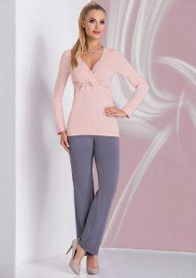 Dámské pyžamo Donna Ariana L Starorůžová1