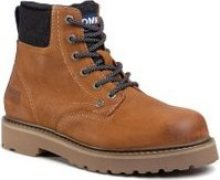 Turistická obuv Tommy Jeans Lace Up Mens Tommy Jeans Boot EM0EM00534 Hnědá